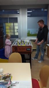 In het ziekenhuis in de speelkamer